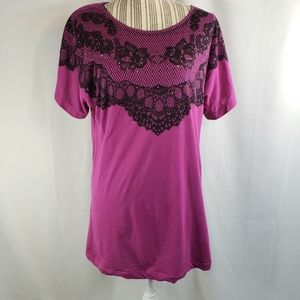 Susie Rose Lace Accent Top Size XXLarge